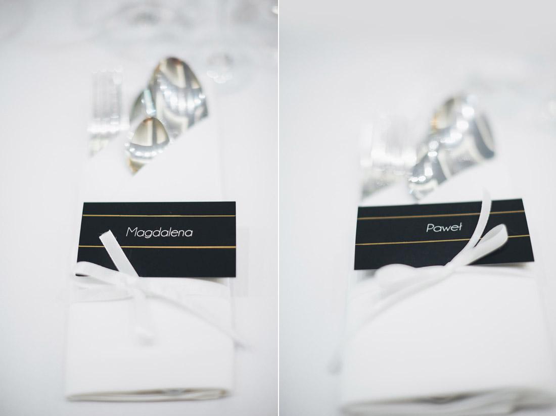 eleganckie winietki ślubne
