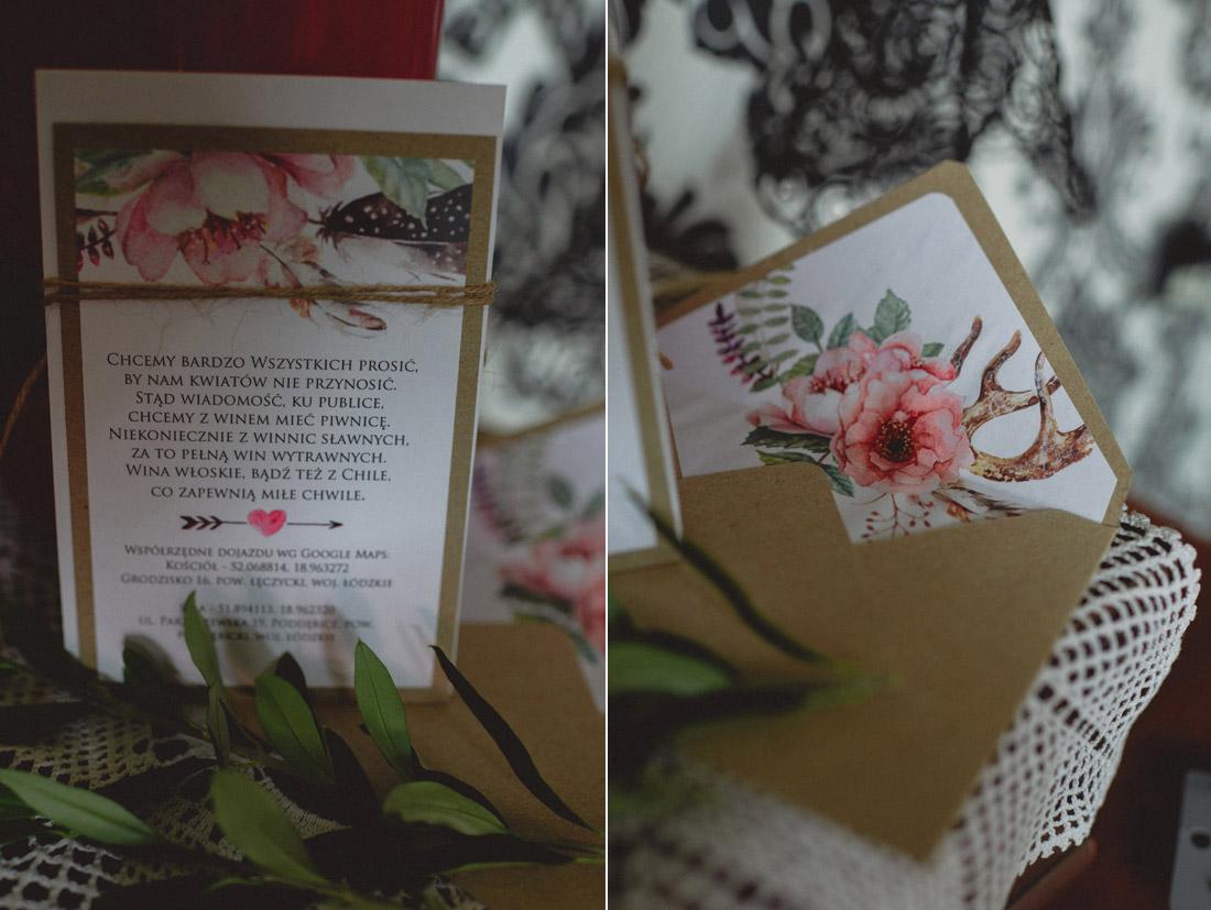 zamiast kwiatów na zaproszenia