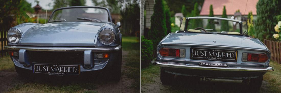 stylowe auto do ślubu