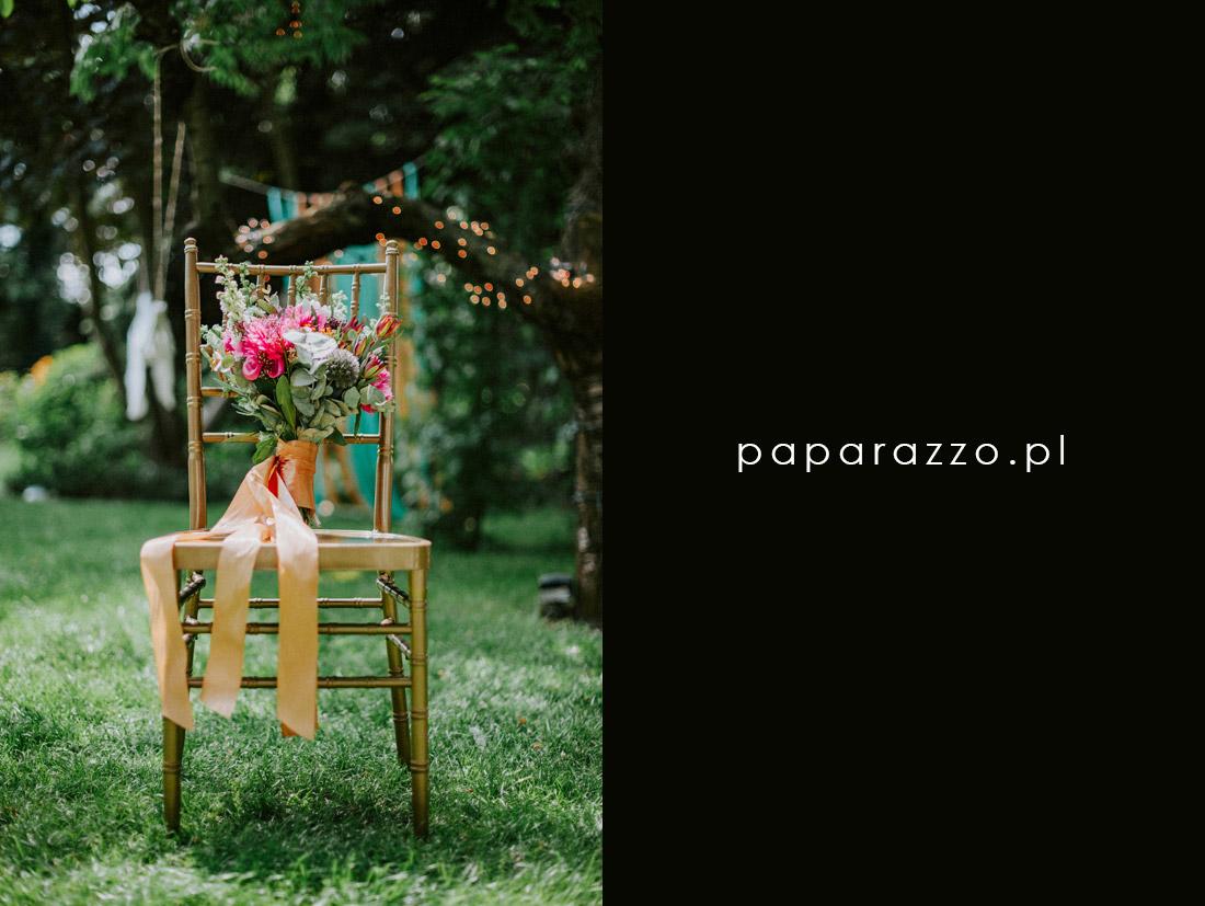 bukiet ślubny protea piwonie eukaliptus