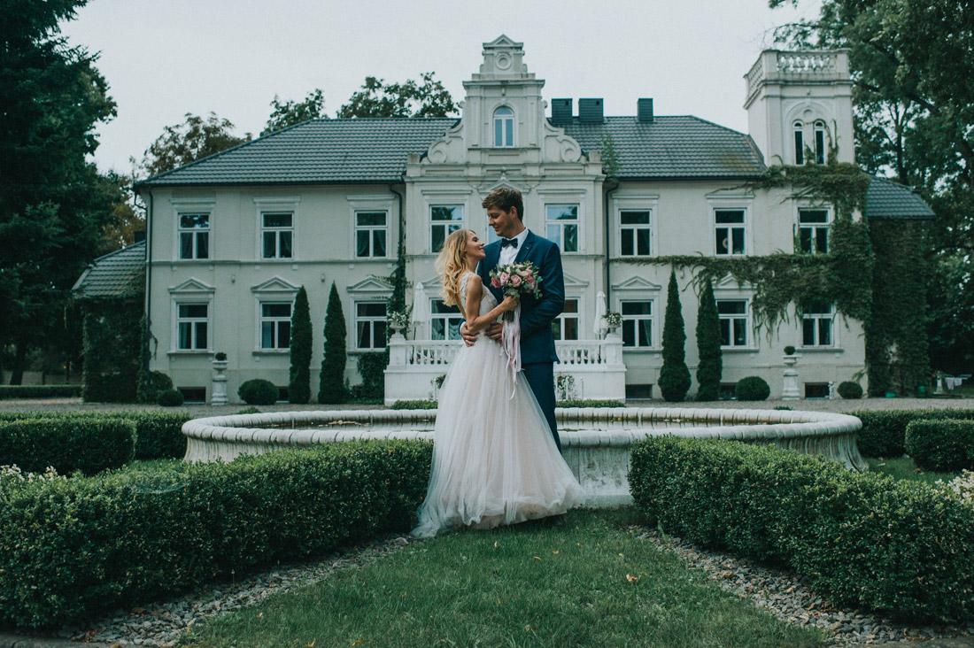 zdjęcia ślubne Pałac w Pstrokoniach