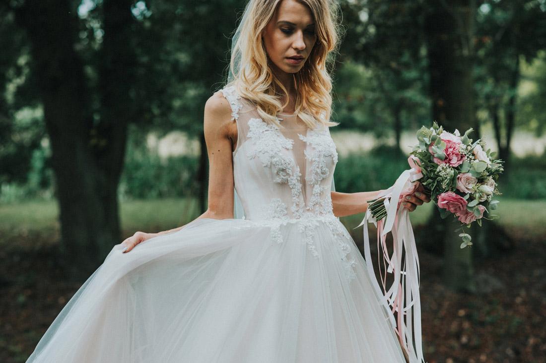 pastelowy bukiet na ślub