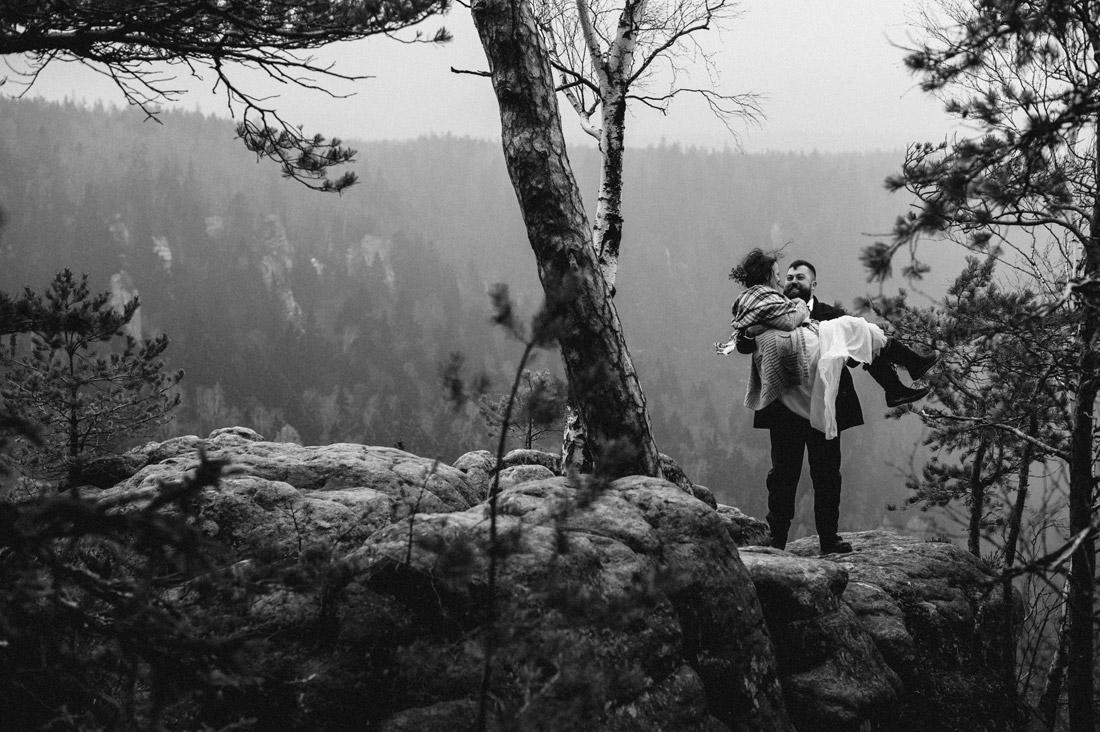 sesja pośłubna w górach