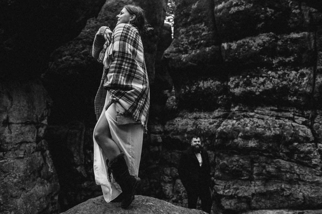 zdjęcia ślubne w górach stołowych