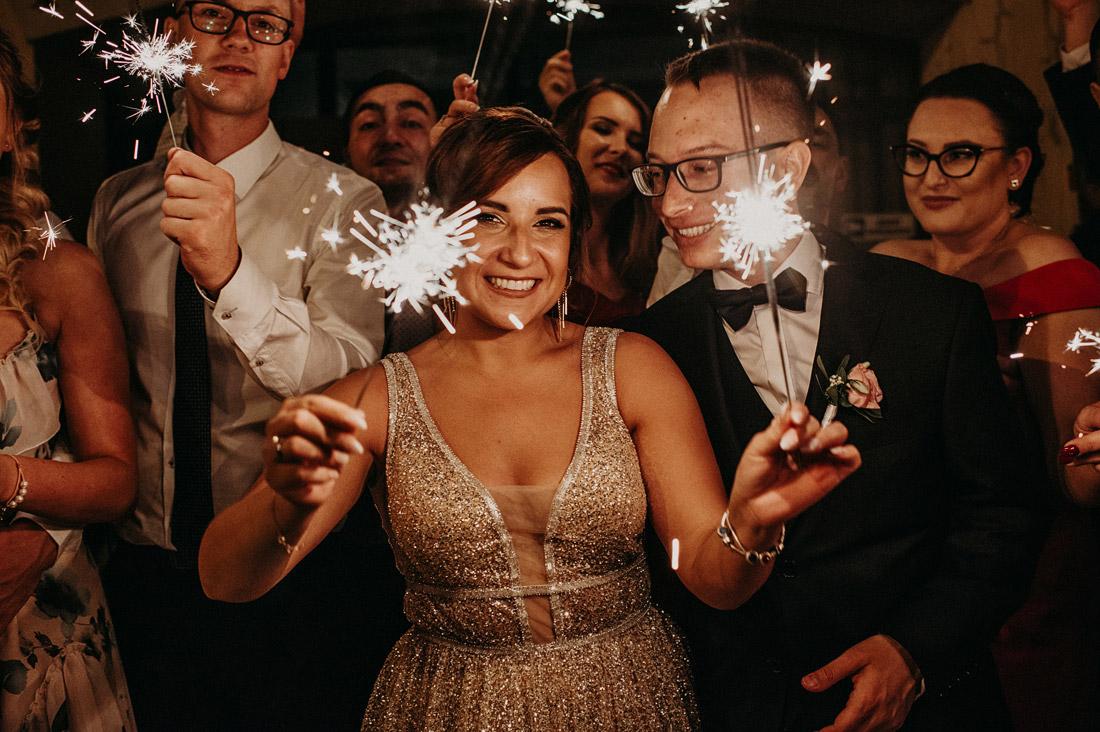 zimne ognie na ślub