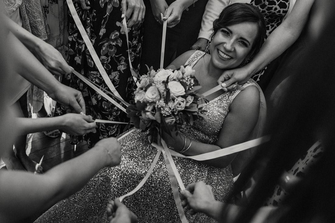 wstążki do bukietu ślubnego
